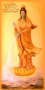 Kwan Yin is a Chinese goddess.